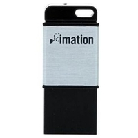 USB Flash Drive 16Gb USB2.0 Imation Atom Drive Silver Black (i25583)
